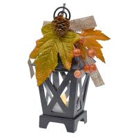Mini Black LED Fall Lantern Place Card & Photo Holder-GE4002