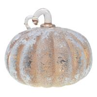 Small Frosted Taupe LED Pumpkin-GE4005