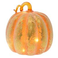 Large Frosted LED Pumpkin Orange-GE4006