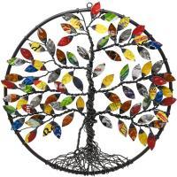 Recycled Metal Tree of Life Wall Decor-GEBLUEA232