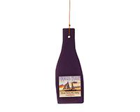 Purple Wine Bottle Glass Piece-GEBLUEB1