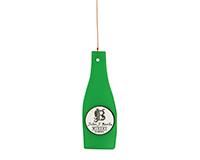 Green Wine Bottle Glass Piece-GEBLUEB3