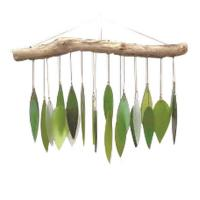 Spring Leaves & Driftwood Glass Chime-GEBLUEG209