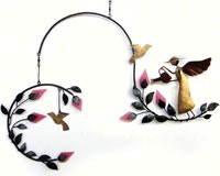 Angel & Birds Metal/Glass Mobile GEBLUEG462