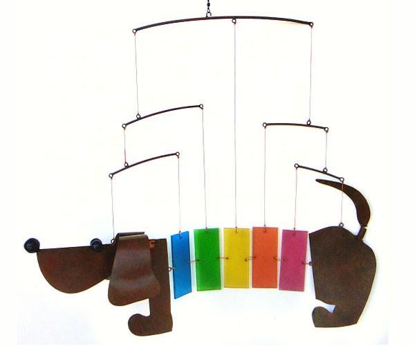Rainbow Dachsie Mobile GEBLUEG478'