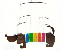 Rainbow Dachsie Mobile GEBLUEG478