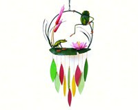 Frogs & Cattails Chime GEBLUEG503