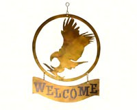 Eagle Welcome Sign-GEBLUEG538