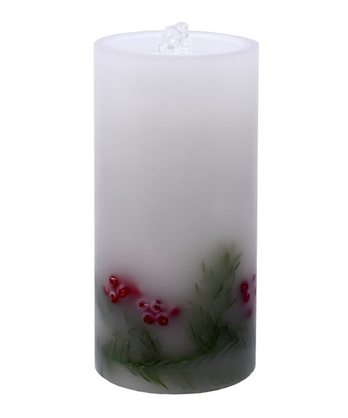 LED Holly Berry Candle Fountain