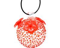 Red Textured Glass Hummingbird Feeder GEHF002