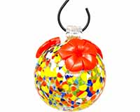 Multicolored Glass Hummingbird Feeder-GEHF005