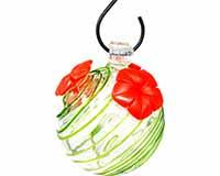Green Swirl Glass Hummingbird Feeder GEHF007
