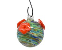 Ocean Swirls Glass Hummingbird Feeder-GEHF011