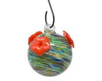 Ocean Swirls Glass Hummingbird Feeder-GEHF011