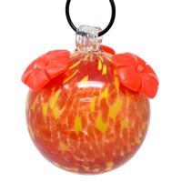 Fiery Fusion Glass Hummingbird Feeder-GEHF013