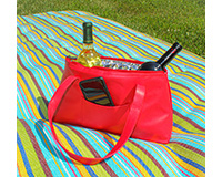 Red Faux Leather Wine Purse for Two Bottles-GEWP401