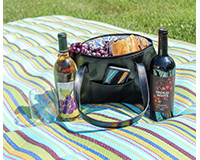 Black Faux Leather Wine Purse for Two Bottles-GEWP402