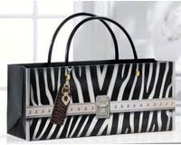 Zebra Print Handbag Design Wine Bottle Gift Bag-GIFT467714