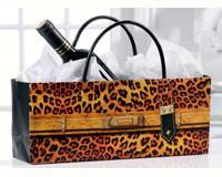 Orange Leopard Print Handbag Design Wine Bottle Gift Bag-GIFT467716