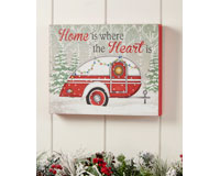 MDF Christmas Trailer Design Wall Art-GIFT655548