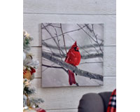 Cardinal LED Lighted Canvas Wall Art-GIFT655724