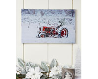 Canvas Fiber Optic Tractor Design Print-GIFT655907