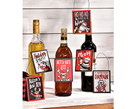 Hipster Holiday Wine Bottle Tags-GIFT657395