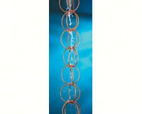 Double Link Rain Chain 8.5 ft Polished Copper-GOOD464P8