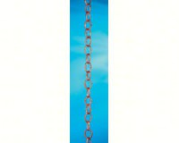 Small Single Link Rain Chain 8.5 ft Polished Copper-GOOD485P8