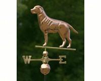 Labrador Retriever Weathervane Polished Copper + Freight-GOOD560P