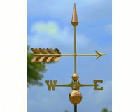 Arrow Weathervane Polished Copper + Freight-GOOD611SP