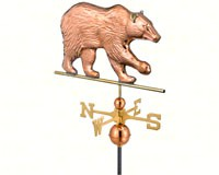 Bear Weathervane Polished Copper + Freight-GOOD695P