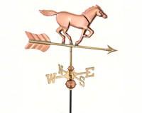 Horse Garden Weathervane Polished Copper-GOOD801PGD