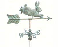 Rabbit Garden Weathervane Blue Verde Copper-GOOD809V1GD