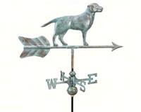 Labrador Retriever Garden Weathervane Blue Verde Copper-GOOD810V1GD