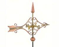 Victorian Arrow Garden Weathervane Polished Copper-GOOD8842PGD