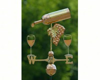 Wine Bottle Weathervane Polished Copper + Freight-GOOD917P