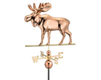 Moose Weathervane Polished Copper + Freight-GOOD9557P