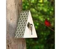 Swiss Chalet Bird House Painted-GOODBH202WWHT