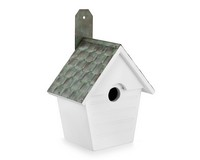 Classic Cottage Bird House Painted-GOODBH205WWHT
