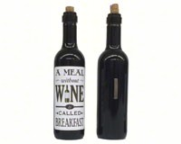 A meal without wine is called breakfast Clever Saying Magnet GRAPECSM13