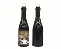 Coffee Keeps me going until it's acceptable to drink wine! Clever Saying Ornament-GRAPECSO10