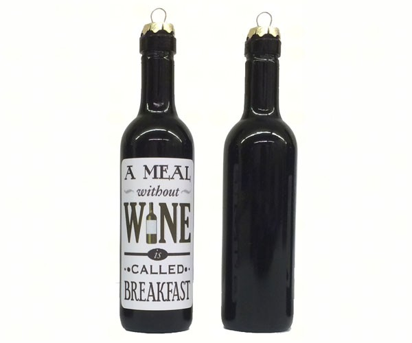 A meal without wine is called breakfast Clever Saying Ornament GRAPECSO13'
