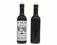 A meal without wine is called breakfast Clever Saying Ornament-GRAPECSO13