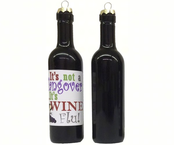 It's not a hangover, its wine flu Clever Saying Ornament GRAPECSO14'
