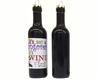 It's not a hangover, its wine flu Clever Saying Ornament-GRAPECSO14