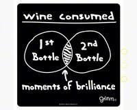 Wine Bottle Trivet-5.5 inches-GRIMMBRILLWBT