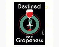 Magnet, Humorous Saying, Destined for Grapeness-GRIMMGRAPE2MAG