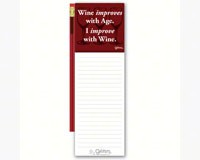 Magnetic Note Pad with Pencil: Wine Improves with Age. I improve with Wine-GRIMMIMPROVEMNP