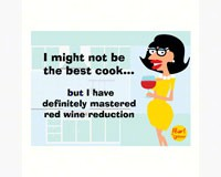 Magnet, Humorous Sayings, I might not be the best cook... but I have definitely mastered red wine re-GRIMMPCOOKMAG